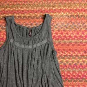 GREY OLD NAVY PLEATED TOP